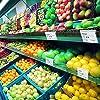 Matogle 70 Pcs Espositore in Plastica Trasparente Porta Prezzi per Negozio Mensole Prezzi Etichetta di Prezzo Segni di Merce Prodotto Mensola per Supermercato Bottega #3