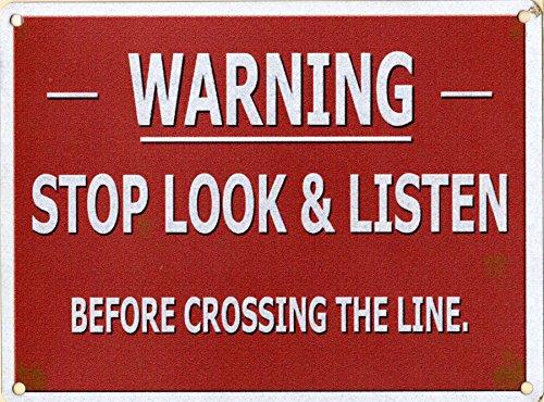 Vintage Eisenbahn-Schild aus Metall, mit der Aufschrift: