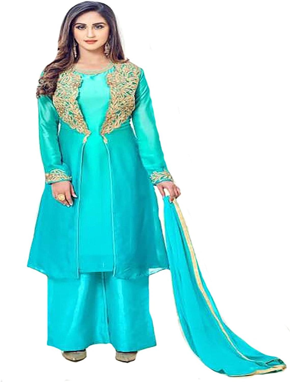 Silk 100% Original Pure Ethnic Straight Salwar Kameez suit Formal Ceremony Muslim 8777