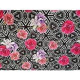 Tessuto Scuba Stampato Rose Geometrico 50 Cm - Numero 1