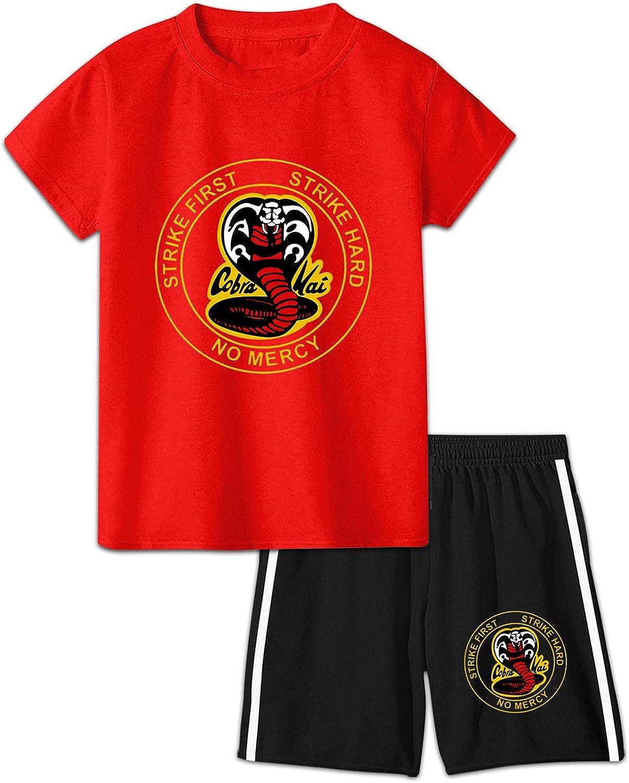 Kids Cobra Kai T-Shirt Shorts 2 Raleigh Mall Shor Running Summer Brand Cheap Sale Venue Sets Piece
