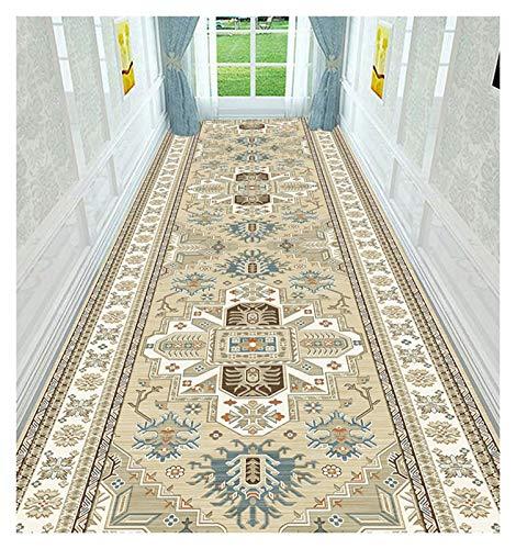 ditan XIAWU Eingangstürmatte Korridor Teppich Schlafzimmer Wohnzimmer rutschfest Kann Geschnitten Werden Bett (Color : A, Size : 90x350cm)