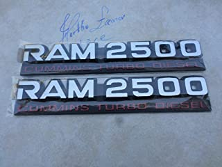 94-98 Dodge Ram 2500 Cummins Turbo Diesel 55295311AB Logo Emblem Decorative Decal Set of 2 Ornaments