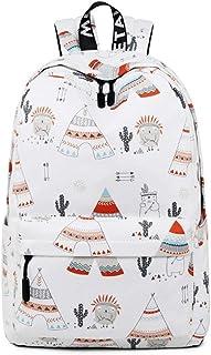 Girls School Backpack Cute Adorable Kids Backpack Elementary Dot Bookbag (Color : White)