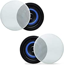 "Herdio 4"" HCS418 160 Watts 2 Way Flush Mount in Ceiling in Wall Speakers Perfect for Bathroom, Kitchen,Living Room,Office(A Pair"