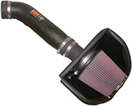 K&N Cold Air Intake Kit with Washable Air Filter: 2003-2006 Nissan 350Z, 3.5L V6, Black HDPE Tube with Red Oiled Filter, 57-6013