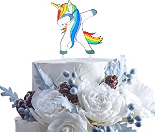 dabbing unicorn cake