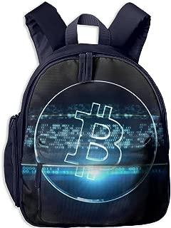 Pinta Bitcoin Cub Cool School Book Bag Backpacks for Girl's Boy's