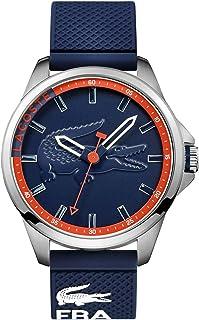 ساعة كابريتون للرجال بمينا ازرق وسوار سيليكون - 2010842 من لاكوست