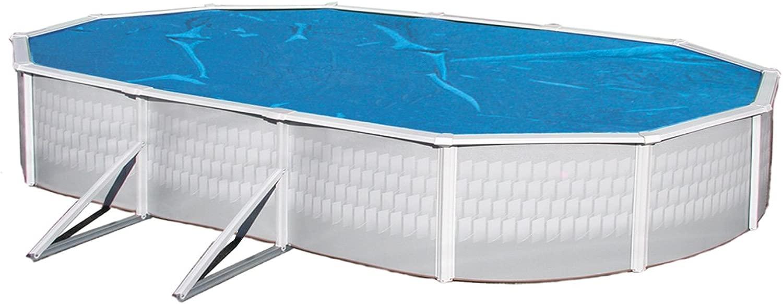 青 Wave NS135 12' x 24' Oval Above Ground 青 Solar Pool Cover Blanket