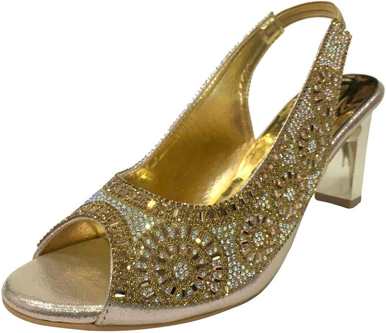 Step n Style New Women Ladies Prom Wedding Bridal Heel Diamante Sandals Party shoes