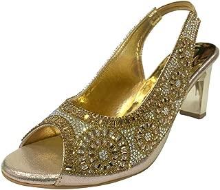 New Women Ladies Prom Wedding Bridal Heel Diamante Sandals Party Shoes