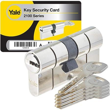 Yale YC2100 - Cilindro di serratura per frizione, YC2100 DB 30X40 NI