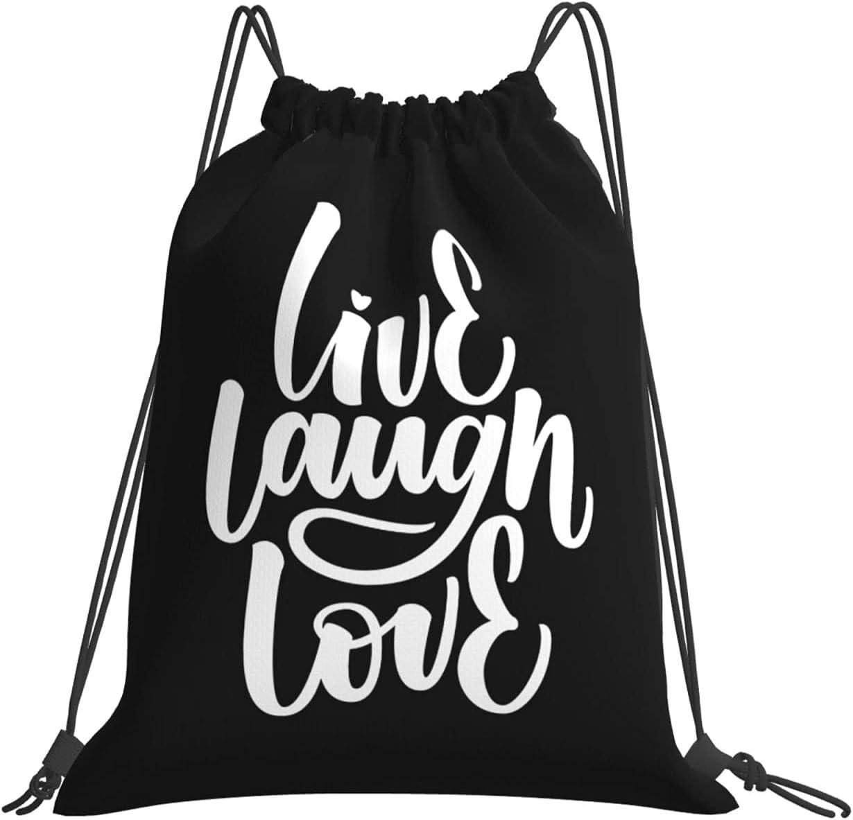 Live Laugh Love Drawstring Austin Mall Backpack Sackpack String Sports New item G Bag