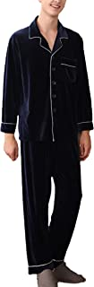 Men's Pajamas Two Piece Set Autumn Winter Fashion Soft Comfortable Sizes Velvet Sleepwear Long Sleeve Lapel Loose Comforta...