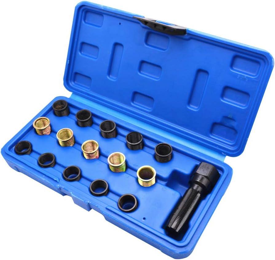 CALIDAKA 16pcs//Set Tap Professional for Spark Plug Restore Thread Repair Kit Vehicle Tool