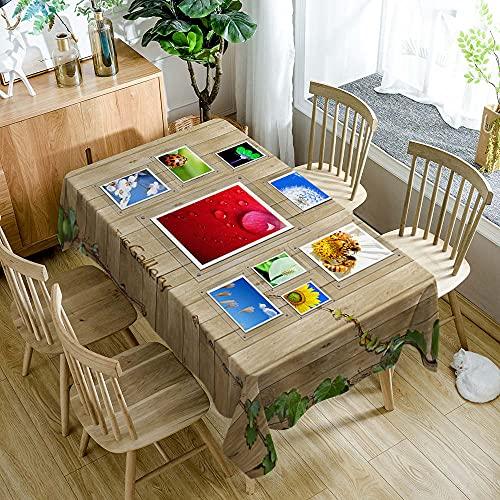 XXDD Mantel de Estilo Pastoral con diseño de Flor de Girasol Amarillo, Mantel Rectangular a Prueba de Polvo para Mesa de Comedor, decoración del hogar, A1 150x210cm
