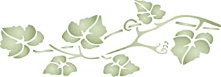 """Vine Stencil - (size 13""""w x 4.5""""h) Reusable Wall Stencils for Painting - Best Quality Wall Border Leaf Stencil Ideas - Use on Walls, Floors, Fabrics, Glass, Wood, Terracotta, and More…"""
