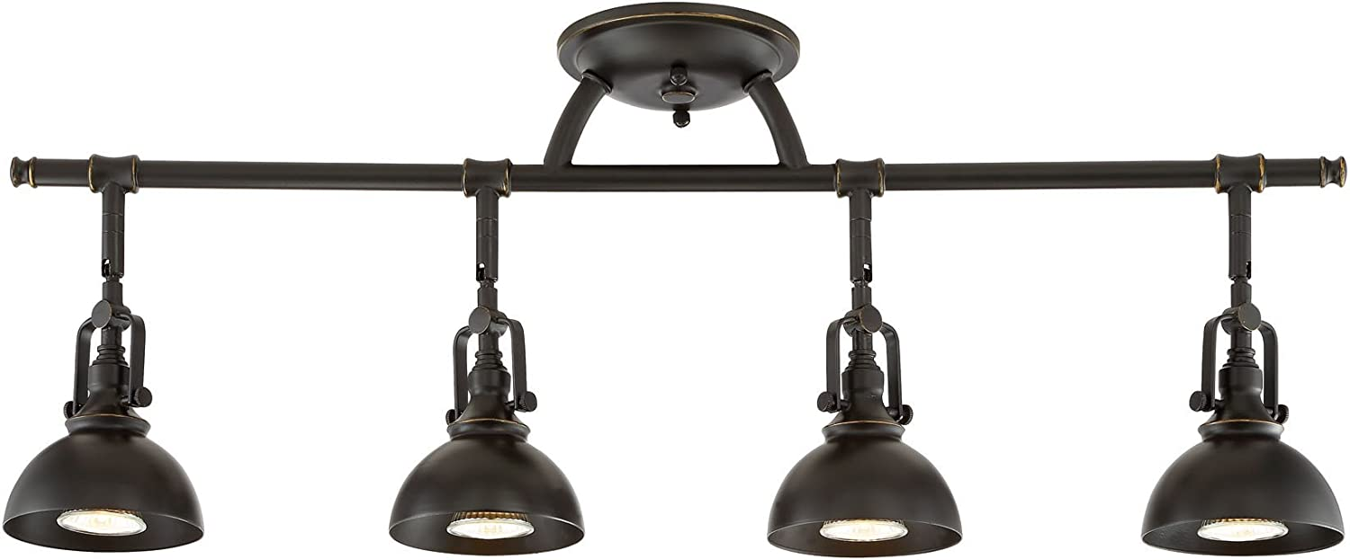 Kira Home Broadway 30  4-Light Industrial Directional Track Light, Bronze Finish