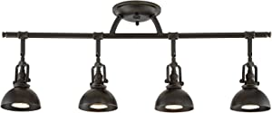 "Kira Home Broadway 30"" 4-Light Industrial Directional Track Wall/Ceiling Light, Bronze Finish"