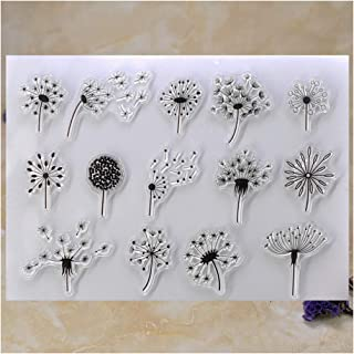 Kwan Crafts Dandelion Clear Stamps for Card Making Decoration and DIY Scrapbooking