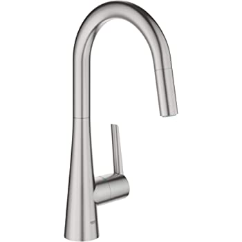 Grohe 32283dc2 Ladylux L2 Single Handle Pull Down Dual Spray Prep Sink Kitchen Faucet In Supersteel Amazon Com
