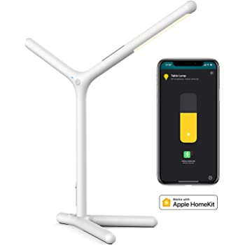 Smart LED Desk Lamp, Eye-Caring Table Lamps, 7W Smart Desk Lamp for Study Reading Office Bedroom (Support Apple HomeKit, Human Body Induction)