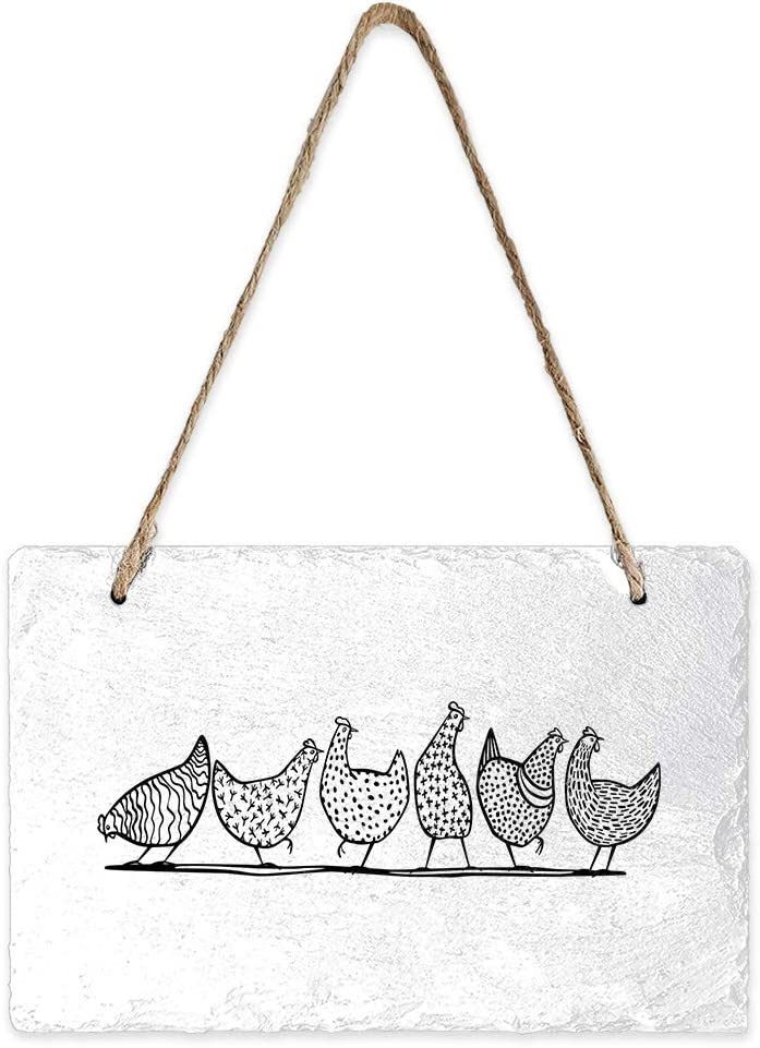 Libaoge OFFicial store Outstanding Mini Slate Hanging Sign Double Wall Rectangle Pedi Sided