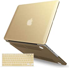 IBENZER MacBook Pro 13 Inch Case 2012-2015, Soft Touch Hard Case Shell Cover with Keyboard Cover for Apple MacBook Pro 13 with Retina Display A1425 1502, Gold, MMP13R-BGD+1A