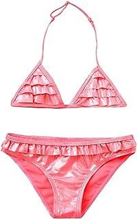 LiLiMeng Children Baby Girls Ruched Print Bikini Set Swimwear Swimsuit Bathing Clothes
