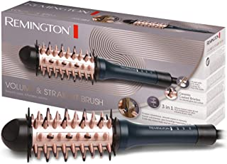 Remington volymborste, 3 i 1-funktion: hårborste, plattång och volymstyler, 38 mm rund borste, 3 temperaturinställningar f...