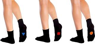 Symbolsocks, 3 pares de calcetines negros con diseño, unisex