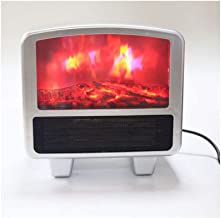 Mini Flame Heater Fan Heater Desktop Flame Effect Heater Space Heater Flame Heater - Quick and Easy Heating All Over Red