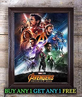 Avengers Infinity War Autographed Signed Reprint 8x10 Photo #48 Special Unique Gifts Ideas for Him Her Best Friends Birthday Christmas Xmas Valentines Anniversary Fathers Mothers Day