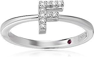 Roberto Coin Women's 001634AWLRXF Diamond Initial Ring, White, Size 7