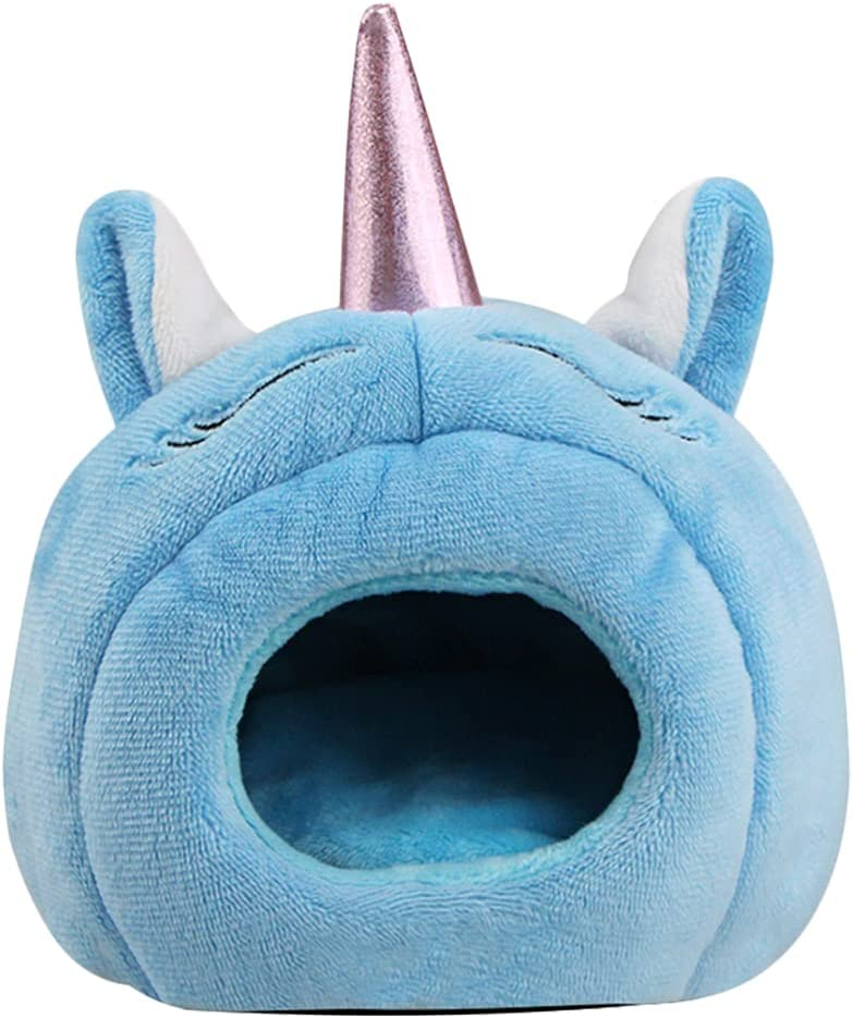 TEHAUX Unicorn Shape Max 67% OFF Hamster Hideout Plush for Bed House Max 78% OFF Warm Ch