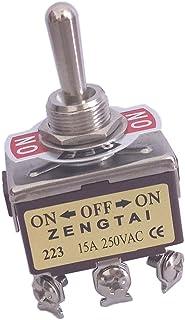 MagiDeal Interruptor de Palanca DPDT On-on 2 Posiciones 6 Pines de AC 250V 15A