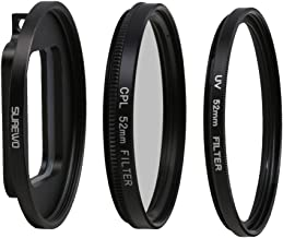 SUREWO CPL Lens Filter 52mm Circular Polarizing Lens Filter with UV Filter Compatible with GoPro Hero 7 6 5 Black