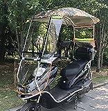 JXH Tendalino Parasole Elettrico Universale per Bicicletta, Parasole Parapioggia-Parabrezza Parasole per Auto Batteria Moto,Multi Colored