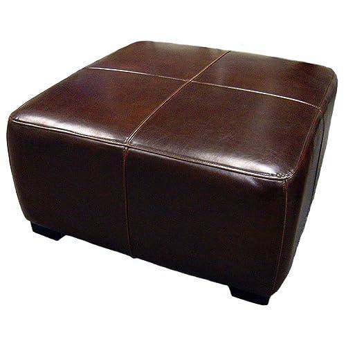 the latest 3dc54 f081f Square Leather Ottoman: Amazon.com
