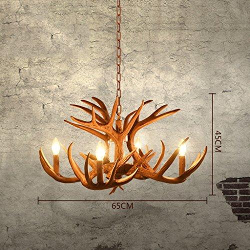 & Perfect ** - Amerikanische Geweihe Kronleuchter Geweihe Lampe Wohnzimmer Restaurant Bar Retro Art Mediterran Bar personalisierte Kreativität Geweihe Kronleuchter