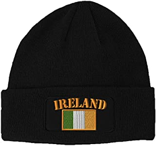 Patch Beanie for Men & Women Ireland Flag Embroidery Skull Cap Hats 1 Size