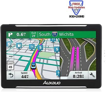 GPS Navigation for Car, 7-inch Portable Car GPS Navigation System, 2019Newest Free Lifetime Map,Built-in 8GB-256MB Real Voice Turn Alarm Satellite Navigator