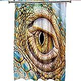 Duschvorhang Krokodil-Augen-Duschvorhang Anti-Schimmel Wasserdichter Waschbar Anti-Bakteriell Stoff Polyester Badewanne Vorhang mit 12 Duschvorhängeringen
