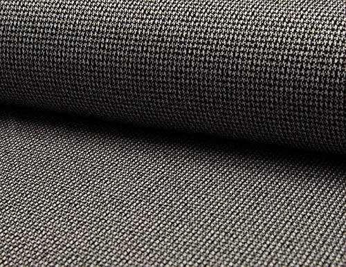 Qualitativ hochwertiger Jacquard Stretch Stoff in Schwarz Weiß, Salz und Pfeffer Optik, als Meterware zum kreativen Nähen, 50 cm