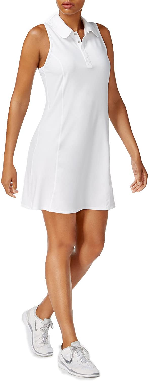 Ideology Womens Tennis Polo Dress White S