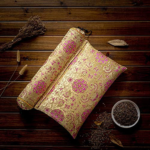 weichuang Guiffly - Almohada cervical de trigo sarraceno natural, almohada para el cuello, almohada de salud, almohada de fisioterapia cervical (color: verde)