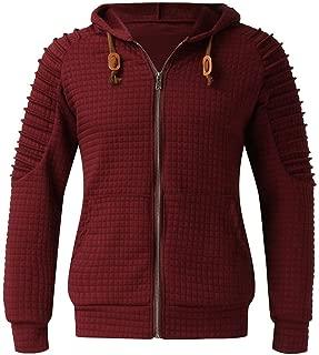 Gergeos Men's Hooded Sweatshirt Plus Size Warm Male Long Sleeve Zipper Outwear T-Shirt Pullover S-5XL