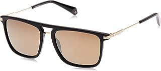 Polaroid Rectangle Sunglasses for Men - Brown Lense, PLD 2060/S 80756LM