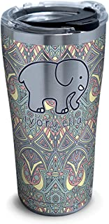 Tervis Ivory Ella - Mosiac Print Stainless Steel Insulated Tumbler with Lid, 20 oz, Silver
